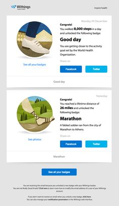 Congratulations for unlocking the Marathon badge! - Really Good Emails
