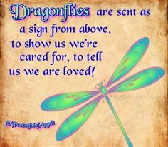 Dragonfly totem: You have the ability to manifest other realms which will show up in dreams