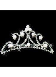 wholesale bruids haar bruids-haaraccessoires bruids kroon parel kroon houden