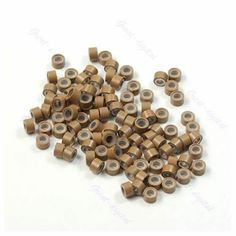 Burgundy micro rings red hair extension beads crimp beads hair lot of 100 pcs silicone micro ring feather hair extensions crimp beads khaki pmusecretfo Gallery