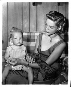 Lauren Bacall and son Stephen