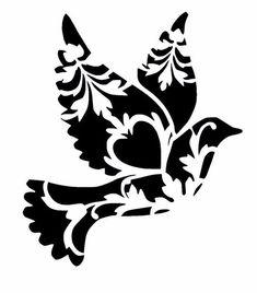 Floral Bird Bird Reusable Stencils Ready to use Custom image 1 Custom Stencils, Stencil Templates, Stencil Patterns, Stencil Designs, Embroidery Patterns, Hand Embroidery, Bird Stencil, Stencil Art, Damask Stencil