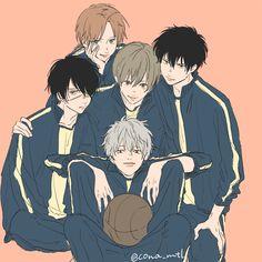 Twitter Manga Art, Anime Art, Kamui Gintama, Gintama Wallpaper, Anime Friendship, Samurai, Link Art, Anime Group, Fanart