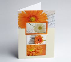 #Grusskarte #Gerbera #Blumen Gerbera, Gift Cards, Invitation Cards, Xmas Cards, Invitations, Florals, Wedding
