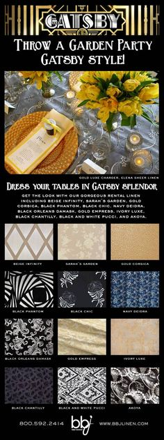 Patterns to choose from Great Gatsby Inspired Garden Party
