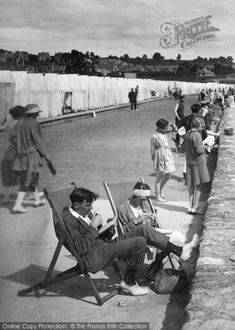Photo of At Leisure On Preston Promenade Part of The Francis Frith Collection of historic photographs of Britain. Did you know you can browse the archive online today for free? Your nostalgic journey has begun. Vintage Photographs, Vintage Images, Nostalgic Images, South Devon, British Summer, Boater, The Old Days, North Yorkshire, Preston