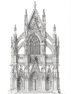 The North Portal Cologne Cathedral Germany by GatepostPictures John Simlett - Baustil Gothic Architecture Drawing, Architecture Antique, Cathedral Architecture, Sacred Architecture, Classic Architecture, Historical Architecture, Beautiful Architecture, Conceptual Architecture, Cathedral Tattoo