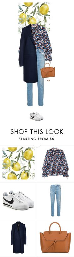 """Outfit of the Day"" by wizmurphy ❤ liked on Polyvore featuring Tory Burch, NIKE, RE/DONE, MSGM, Alexandra de Curtis, LC Lauren Conrad, ootd and whitesneakers"