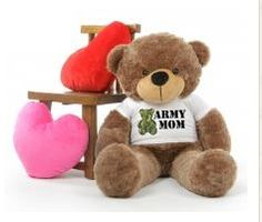 """For those serving in the Army, we offer a special """"Army Mom"""" Giant Teddy Bear your Mom is sure to love this Mother's Day!"""