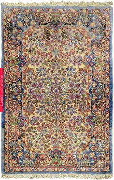 ( x / 2 ft x 3 ft ) Persian Kerman rug. The rug is made of pure wool pile on cotton foundation in Persia ( Iran ). ( x / 2 ft x 3 ft ) Persian Kerman rug. The rug is made of pure wool pile on cotton foundation in Persia ( Iran ). Persian Carpet, Persian Rug, Rustic Rugs, Aztec Rug, Patterned Carpet, Handmade Rugs, Handmade Crafts, Oriental Rug, Decoration