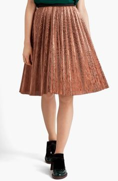 Marni Knife Pleated Skirt available at #Nordstrom