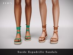 Sims 4 Mods Clothes, Sims 4 Clothing, Espadrille Sandals, Espadrilles, Around The Sims 4, Sims 4 Teen, Cc Fashion, Sims 4 Cc Shoes, Sims4 Clothes