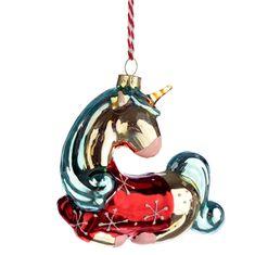 Metallic Enchanted Unicorn Glass Christmas Bauble | Etsy Glass Christmas Tree Ornaments, Christmas Decorations, Holiday Decor, Unicorn Glass, Unusual Gifts, Hand Painted Ceramics, Novelty Gifts, Enchanted, Metallic