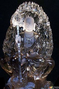 Buddhist Crystal Carving