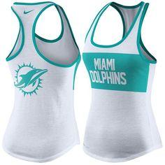 Miami Dolphins Nike Women's Performance Tank Top - White - $25.99