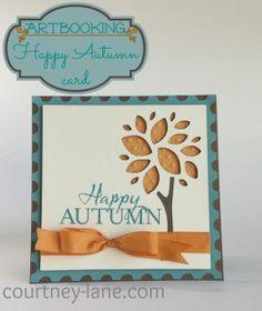 Cricut Artbooking Happy Autumn card