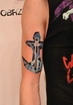 Geometric anchor tattoo