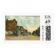 Main St., Ashtabula, Ohio Vintage Postage