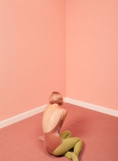 woman sitting on the floor in pink room by Ulaş and Merve for Stocksy United Blue Photography, Editorial Photography, Fashion Photography, Kreative Portraits, Viviane Sassen, Tout Rose, Pink Room, Boss Lady, Color Inspiration