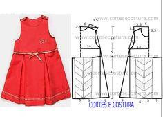 Mais uma excelente proposta de costura de vestido de criança 3 a 4 anos com medidas que penso vai ser do agrado das pequenas.