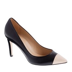 j crew Everly cap toe leather pumps