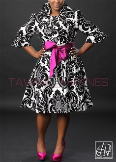 Tawni Haynes Trench Dress with additional belt! I like this outfit Curvy Girl Fashion, Look Fashion, Plus Size Fashion, Womens Fashion, Feminine Fashion, Look Plus Size, Plus Size Women, African Fashion Dresses, African Dress