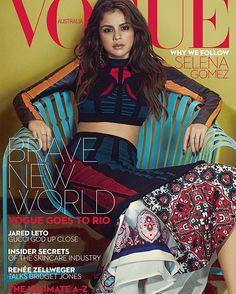 Selena Gomez for Vogue Australia/ @vogueaustralia  in @louisvuitton @nicolasghesquiere