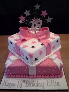 Pink And White 18th Birthday Cake Flickr Photo Sharing 16th For Girls 40th
