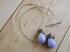 Looking for jewelry project inspiration? Check out Blue Lace Agate Hoops by member Barb Griswold. - via @Craftsy
