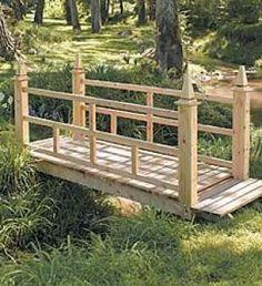 Garden Bridge- add metal cutout panels from water jet
