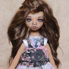 Еще фото девочки. (Продана ) #текстильнаякукла #хендмейд #handmade #artdoll #dollart #doll