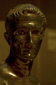 Augustus,bronze  portrait  of  a Roman  Emperor