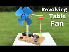 How to Make a Mini Revolving Table Fan at Home - Easy to Build - Amazing idea - YouTube