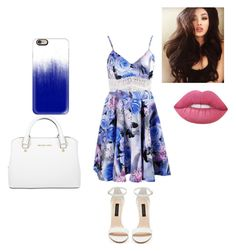 """""""Untitled #12"""" by gabriellecute ❤ liked on Polyvore featuring Forever New, Michael Kors, Casetify and Lime Crime"""