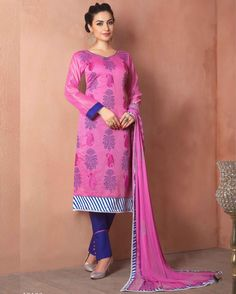 Pink   lovely Embroidered Chanderi Designer Salwar Suits for women(Semi Stitched)       Fabric:   Chanderi       Work:   Embroidered       Type:   Designer Salwar Suits   for women(Semi Stitched)       Color:   Pink                 Fabric Top   Chan