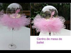 Arreglo de ballet para baby shower - YouTube