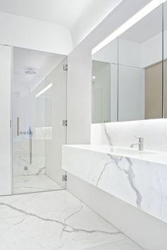 HappyModern.RU | Дизайн белой ванной комнаты (75 фото): «чистая» гармония | http://happymodern.ru