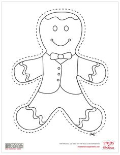 Printable Christmas Decorations Cutouts are certainly one inseparable part of the Christmas holidays, without which Christmas would lose all its color. Printable Christmas Decorations, Gingerbread Man Decorations, Christmas Ornament Template, Free Christmas Printables, Christmas Templates, Christmas Paper, Christmas Colors, Christmas Crafts, Christmas Ornaments