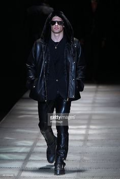 A model walks the runway during the Versace show as a part of Milan  Menswear Fashion af21b074e5