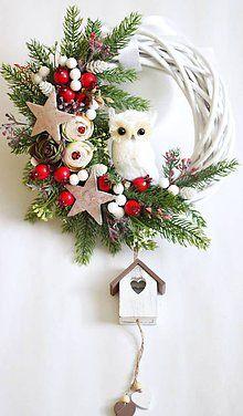 Christmas Swags, Christmas Makes, Noel Christmas, Simple Christmas, Handmade Christmas Decorations, Xmas Decorations, Xmas Ornaments, Holiday Crafts, Winter