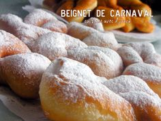 Donut ou bugnes de Christophe Felder - Beignets et Donuts - Waffle Recipes, Donut Recipes, Sweets Recipes, Brunch Recipes, Baking Recipes, French Crepes, French Pastries, French Beignets, Churros