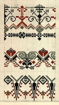 FolkCostume&Embroidery: Designs by Ž. Ventaskrasts, Latvia