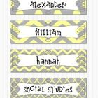 Editable Grey and Yellow Polka Dot, Chevron, and Quatrefoil labels 4 designs 8 Labels   Use these appealing and colorful labels for nameplates, bul...