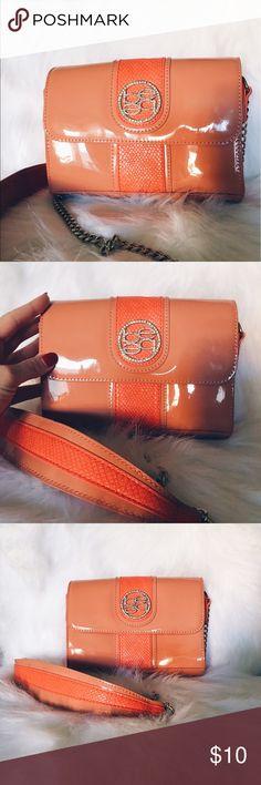 """""""BEBE"""" bag, orange color. Very cute! """"BEBE"""" purse, orange color. Very cute! bebe Bags Shoulder Bags"""