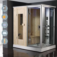 Head over to the web above press the grey tab for further choices -- outdoor infrared sauna Steam Bathroom, Steam Room Shower, Sauna Steam Room, Sauna Room, Shower Rooms, Home Spa Room, Spa Rooms, Sauna Shower, Sauna House