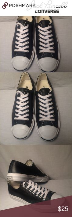 36be6818239b Converse Jack Purcell leather sneakers worn once Converse Jack Purcell  Men s 8 Women s 9.5 Black leather