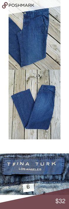 "Trina Turk Flare Leg Jeans Trina Turk Flare Leg Jeans Size 6 Waist 29"" Inseam 32"" Like New Condition Trina Turk Jeans Flare & Wide Leg"