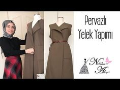 Practical Skirt Sewing Without Using Mold / Easy Skirt Only With Waist Measure / How to Practice Ski Crochet Skirt Pattern, Vest Pattern, Modest Fashion, Hijab Fashion, Dark Green Prom Dresses, Double Breasted Vest, How To Make Skirt, Moda Emo, Dress Sewing Patterns