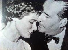 Ingrid Bergman with her husband, Roberto Rossellini