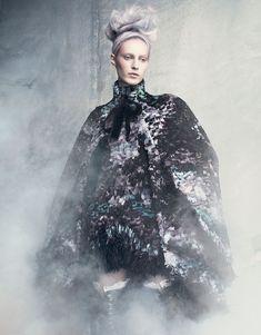 Julia Nobis wearing Alexander McQueen, photographer unknown #fashion #editorial
